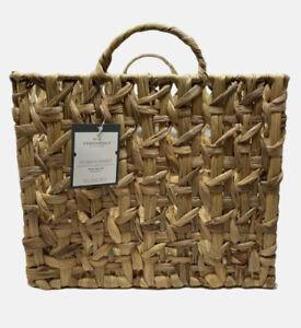 Large Milk Crate Water Hyacinth Threshold 13x12x12.75 Storage Basket NEW