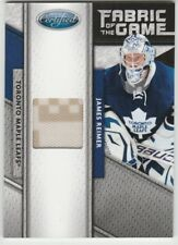2011-12 Leaf Certified Fabric of the Game #137 James Reimer #'d 49 / 99 Toronto
