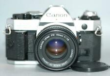 Canon AE-1 Program 35mm film camera with 50mm f1.8 FD lens AE1 prog -Nice Mint-!