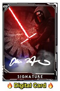 🔥DIGITAL🔥 Topps STAR WARS Trader KYLO REN White I'LL SHOW YOU Signature CARD 3