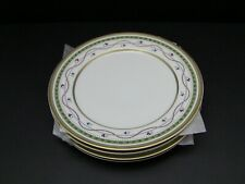 Faberge Luxembourg-Green Dinner Plates / Set of 4 / Excellent