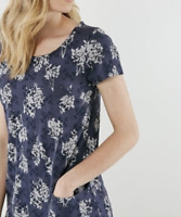 NEW White Stuff Illustrators Embroidered Blue Jersey Tunic RRP £49.95 Now £19.95