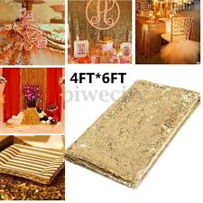 4X6FT Champagne Gold Sequin Photo Backdrop Wedding Booth Photography Background