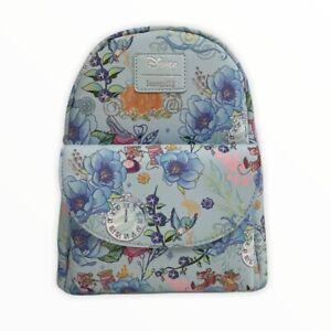 Loungefly NWT Disney Cinderella Floral Mini Backpack Jaq Gus Gus Glass Slipper