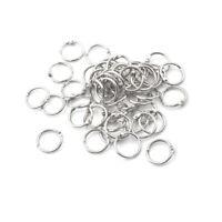 50 Stück Heftklammern Buchbinder 20mm Außendurchmesser Loose Leaf Ring Schl CBL