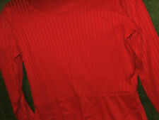LOVELY LONG RED DRESS SIZE 10 - 12, 35% COTTON very soft