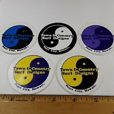 """Vintage 80's Surf stickers """"Town & Country Surf Designs"""" Pearl City, Hawaii (5)"""