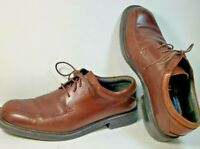 Nunn Bush Oxford Brown Leather Lace Up Shoes 83364-200 Comfort Gel Size 9 Med