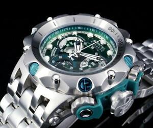 Invicta 52mm Venom Hybrid Quartz Chronograph Green Dial Stainless Steel Watch