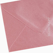 100 x A6 C6 Shell Pink Shimmer Envelopes 114 x 162mm - 100gsm