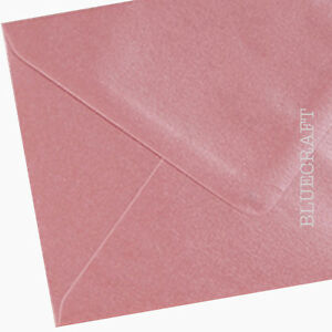 "50 x C6 Shell Pink Pearlescent Envelopes 114 x 162mm - 6 x 4"" 100gsm Cardmaking"