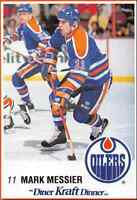 1989-90 Kraft Mark Messier Edmonton Oilers #15