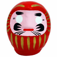 "Japanese 3.5""H Red Lucky Daruma Doll Wish Making Good Luck Fortune Made in Japan"
