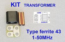 KIT RF Transformer ferrite 43 Amplifier RD16HHF1 2SC2290 IRF510 SC1969 C1969