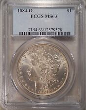 1884-O Certified PCGS MS63 Morgan Dollar 90 % Silver Coin 125