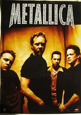 "METALLICA ""RELOAD"" AUSTRALIA PROMO POSTER - Group In Front Of Yellow Background"