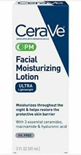 CeraVe Facial Moisturizing Lotion PM, Ultra Lightweight, 3 oz. NEW SALE