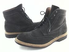 LOTTUSSE Chukka Lace Up Wing Tip Ankle Boots Gray Suede Spain Men's 9.5 EU 42.5