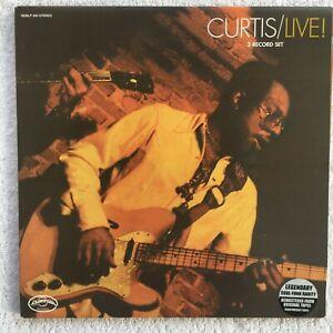 Mayfield, Curtis Live Vinyl NEMLP400 1999 UK release on Curtom EX/M