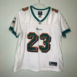 Ronnie Brown Miami Dolphins NFL Reebok On Field Authentic Jersey Size L White