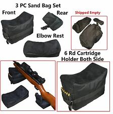 3 Pc Set Bench Rest Stand Shooting Range Sand Bags Front, Rear and Elbow Rest