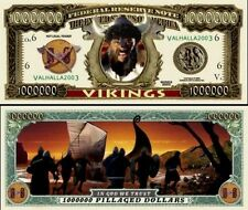 VIKINGS BILLET MILLION DOLLAR US ! Collection Histoire Guerrier Drakkar Aventure