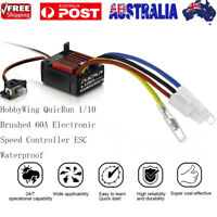 HobbyWing QuicRun 1/10 Waterproof Brushed 60A Electronic Speed Controller ESC AU