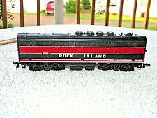 Ho Scale Marx Rock Island Red & Black Dummy Mate To The Diesel Locomotive Used