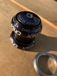 "Chris King 1 1/8"" Nothreadset Threadless Headset Black Retro MTB Nice"