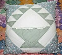Throw Pillow Made From From Vintage Patchwork Basket Design Quilt