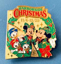 Disney Pin Harborside Christmas Mickey Minnie Nephews Toyko Disneyland 2003