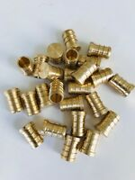 "25 PCS 1/2"""" PEX PLUG (END CAP) - BRASS CRIMP FITTINGS (LEAD-FREE)"