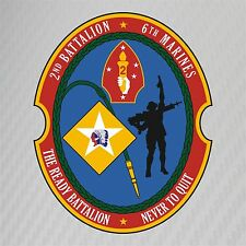 USMC 2nd Battalion 6th Marines Insignia Military Graphics Decal Sticker Car