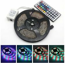 Kit Ruban Bande LED Strip 5M Blanc Vert Bleu Rouge Jaune 300 LED 3528/5050 SMD