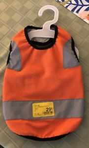 Top Paw Dog Reflective Vest Small Orange New
