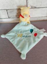 Doudou PLAT Winnie Mouchoir Bleu Ballons Disney Baby Simba Nicotoy NEUF + cadeau