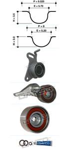 Dayco Timing Belt Kit KTBA281 fits Volkswagen Golf 2.0 TDI Mk5 (103kw)