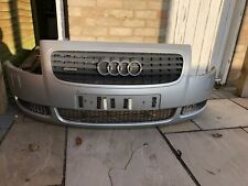 AUDI TT MK1 8N 225  FRONT BUMPER & GRILLES IN SILVER AND  . LY7W AND WASHER JETS