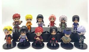 Naruto Gaara Kakashi 12pcs PVC figure figures doll toy dolls christmas gift hot