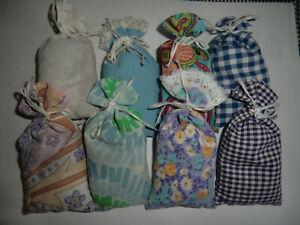 10 + 2 Lavendelsäckchen bunt gemischt Schrankduft Deko Wäscheduft