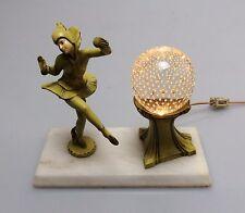 1920's Art Deco Gerdago Pixie Lamp w/ Pairpoint Bubble Glass Globe, EXC COND!