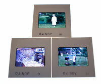Vintage 35mm Photo Transparency Slides - Graduation Cookout 1970 | Lot of 3