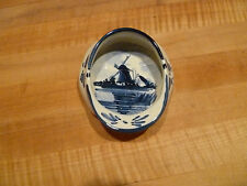Delft marked round ash dish 4 1/2 inch Windmill