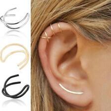 Unisex Fashion Jewelry Punk Rock Ear Clip Cuff Wrap No piercing-Clip On Earrings