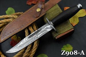 "12.5""OAL Custom Damascus Steel Hunting Knife Handmade With Vengai Handle (Z908-A"