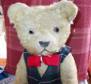FARNELL TEDDY BEAR 1930'S WITH MUSICAL MOVEMENT 16 INCHES HIGH