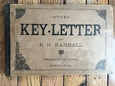 The Key-Letter R.H. Randall Music Book Cornell College Marion, Iowa 1884
