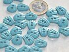 lot de 5 boutons originaux coquille bleu - vert 15mm x 18mm mercerie button