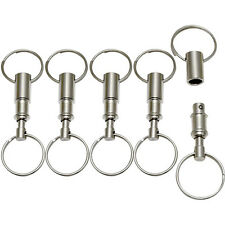 LOT 5 Detachable Pull Apart Quick Release Keychain Key Rings USA Free Shipping