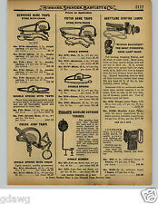 "1929 PAPER AD Newhouse Game Iron Leg Hold Trap #6 #5 Grizzly Black Bear 16"" Jaws"